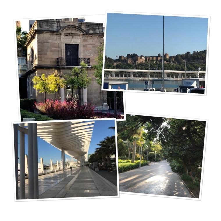 Along the Malaga port